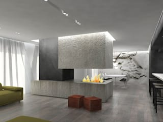 ULA architects Modern living room
