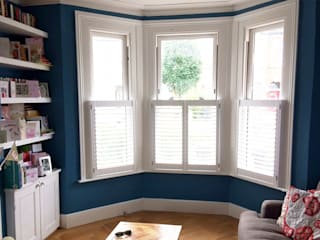 Bay window shutters in South Tottenham Plantation Shutters Ltd Living roomAccessories & decoration Kayu White