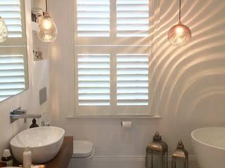 A Bathroom Beauty in Clapham Plantation Shutters Ltd BathroomDecoration Kayu White