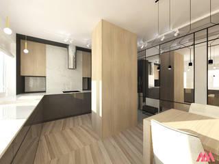 Kuchnia: styl , w kategorii  zaprojektowany przez MWZ Architektura Wnętrz