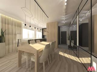 Jadalnia   Kuchnia: styl , w kategorii  zaprojektowany przez MWZ Architektura Wnętrz