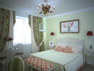 Квартира в стиле Прованс. Спальня в стиле кантри от Дизайн-студия интерьера и ландшафта 'Деметра' Кантри