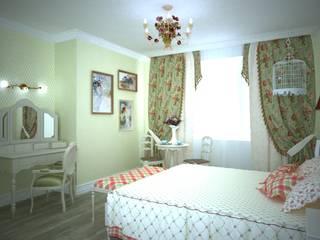Квартира в стиле Прованс. : Спальни в . Автор – Дизайн-студия интерьера и ландшафта 'Деметра',