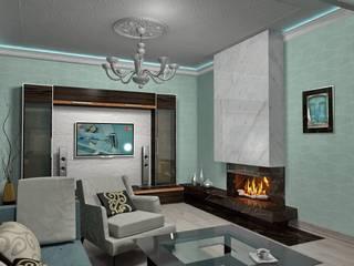 Интерьеры частного загородного дома.:  в . Автор – Дизайн-студия интерьера и ландшафта 'Деметра',