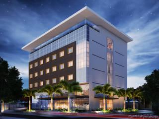 Aquarela Suíte Hotel Hotéis modernos por Marcos Assmar Arquitetura | Paisagismo Moderno