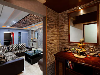 Mr.Ishaan's Residence,Sholinganallur:  Living room by M/s Studio7 Architects