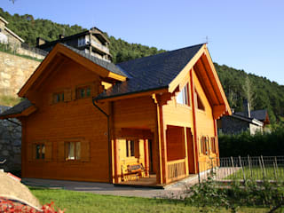 Wooden houses by EC-BOIS, Rustic