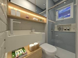 BANHO SOCIAL: Banheiros  por Letícia Saldanha Arquitetura