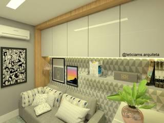 Oficinas y bibliotecas de estilo moderno de Letícia Saldanha Arquitetura Moderno
