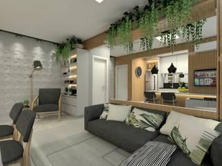 Estar integrado Letícia Saldanha Arquitetura Salas de estar modernas