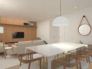Apartamento M1401: Salas de jantar  por Eduardo Piovesan / Arquitetura,Moderno