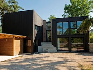 Casas de madera de estilo  de EC-BOIS, Moderno Derivados de madera Transparente