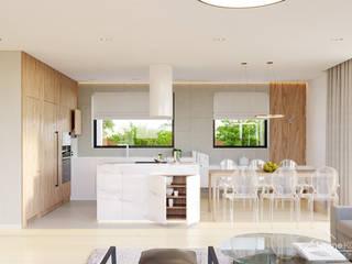 moderne Woonkamer door HomeKONCEPT | Projekty Domów Nowoczesnych