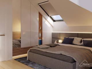 Chambre de style  par HomeKONCEPT | Projekty Domów Nowoczesnych
