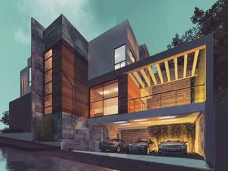 Proyecto Privanzas: Casas unifamiliares de estilo  por MS ARQUITECTOS