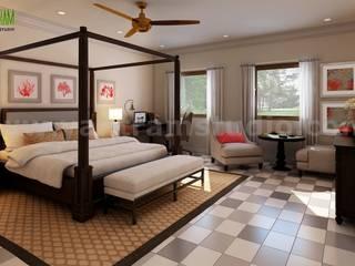 Ideas de dormitorio único diseñado por empresas de diseño de interiores Yantram Dormitorios de estilo moderno de YANTRAM ANIMACIÓN Moderno