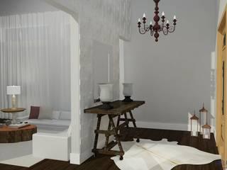 Área social de residencia clássica Corredores, halls e escadas clássicos por Daniela Ponsoni Arquitetura Clássico