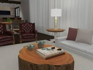 Área social de residencia clássica Salas de estar clássicas por Daniela Ponsoni Arquitetura Clássico