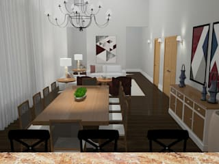 Área social de residencia clássica Salas de jantar clássicas por Daniela Ponsoni Arquitetura Clássico
