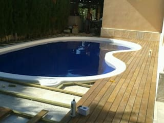 piscina:  de estilo  de Arquitecta interiores Ana Serrano