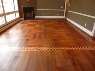 Brazilian Cherry Wood Classic style dining room by Shine Star Flooring Classic