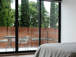 Dormitorios de estilo ecléctico de Molcajete Arquitectura Interiores Diseño Ecléctico