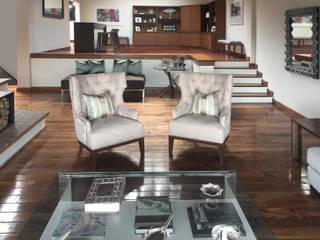 Casa Lomas: Salas de estilo  por xma studio