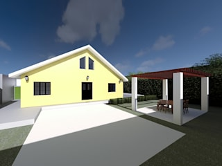 Alojamento Local Renderização: Casas de campo  por NZEB