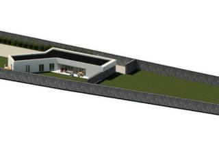 Rendering Vista Aérea: Casas unifamilares  por NZEB