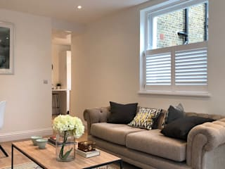 A Huge Project on East Hill Plantation Shutters Ltd Living roomAccessories & decoration Kayu White