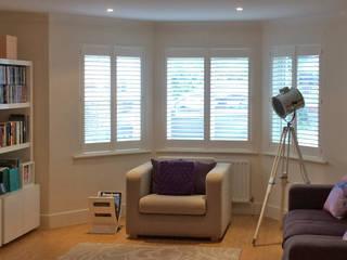 Lavish Full Height Shutters in Lambeth Plantation Shutters Ltd Living roomAccessories & decoration Kayu White