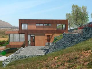 Vivienda el Romero : Casas de madera de estilo  por Uno Arquitectura