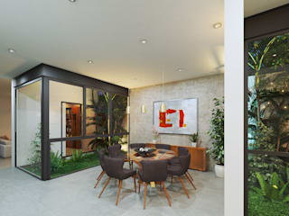 Dining room by Heftye Arquitectura