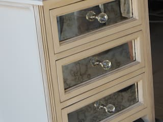 Mirrored pedestal:   by MELLOWOOD Furniture