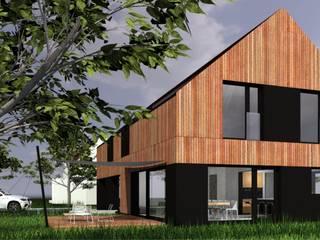 DOM M: styl , w kategorii Domy zaprojektowany przez ŁUKASZ ŁADZIŃSKI ARCHITEKT