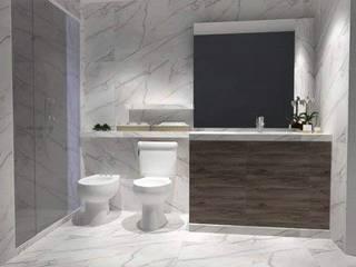 Remodelación Baño principal :  de estilo  por M2 Arquitectura