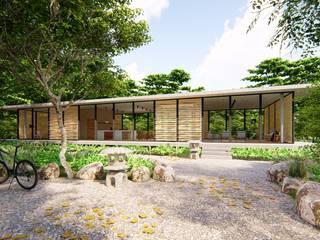 Pavilion K: Casas ecológicas de estilo  por _ p r o g r a m a