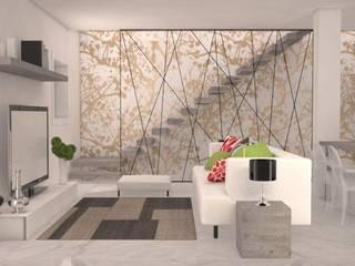 realizzazione unità abitativa Soggiorno classico di Della Bona & Fiorentini Studio di Architettura Classico
