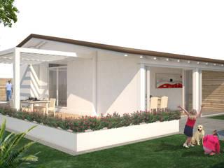 ristrutturazione casa vacanza Giardino minimalista di Della Bona & Fiorentini Studio di Architettura Minimalista