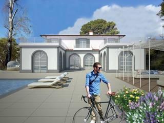 progetto Villa Forte dei Marmi di Della Bona & Fiorentini Studio di Architettura Mediterraneo