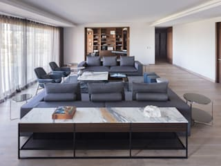 Departamento HA: Salas de estilo  por Concepto Taller de Arquitectura