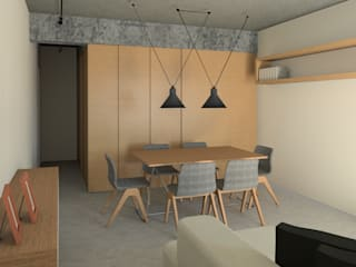 APTO MAJOR Salas de jantar industriais por ARAMADO arquitetura+interiores Industrial