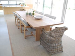 The Aleida Solid Oak Dining Room Table:   by MELLOWOOD Furniture