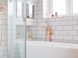 Fulthorpe Road - Main Bathroom Eclectic style bathroom by Brass & Rose Interiors Eclectic