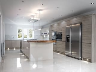 Eve Lane - Home Design including kitchen, bathrooms, entrance, staircase and all fixtures and fittings Modern kitchen by Brass & Rose Interiors Modern