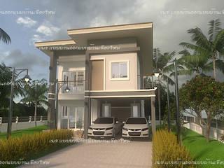 บ้านสองชั้น  #แบบบ้านออกแบบบ้านเชียงใหม่:  บ้านไม้ by แบบบ้านออกแบบบ้านเชียงใหม่