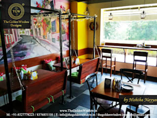 Whizzo Coworking Cafe: eclectic  by The Golden Window Designs,Eclectic