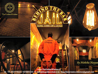 Jail - Behind The Bar: industrial  by The Golden Window Designs,Industrial
