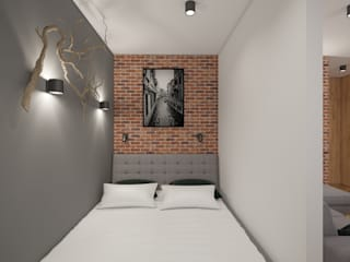AIN projektowanie wnętrz Camera da letto in stile scandinavo