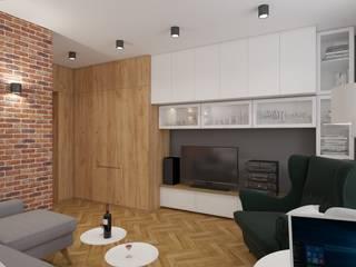AIN projektowanie wnętrz Soggiorno in stile scandinavo